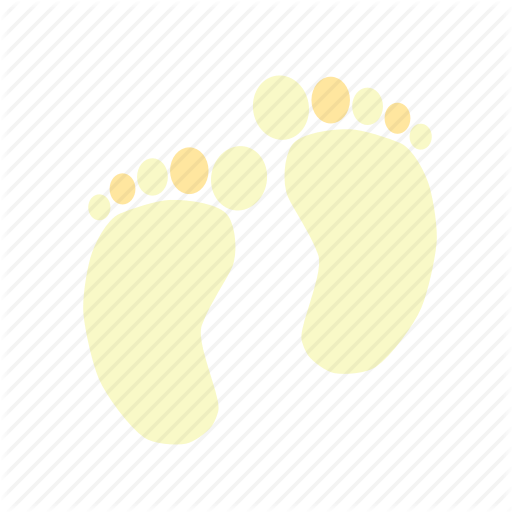 Baby, Baby Feet, Feet, First St Walk, Yellow Icon