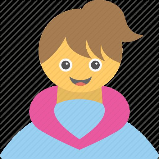 Baby Girl, Cheerful Girl, Happy Girl, Joyful Girl, Smiling Girl Icon