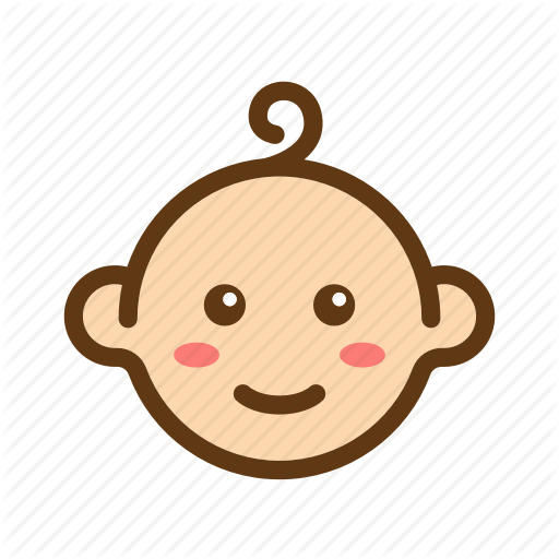 Baby, Baby Face, Boys, Color, Face, Filled Line, Newborn Icon
