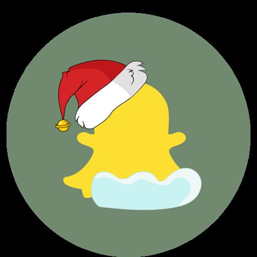 Snow, Christmas, Snapchat, Social Icon
