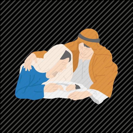 Baby Jesus, Christmas, Family, Mary And Joseph Icon