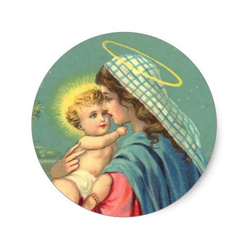Custom Baby Jesus Sticker Templates