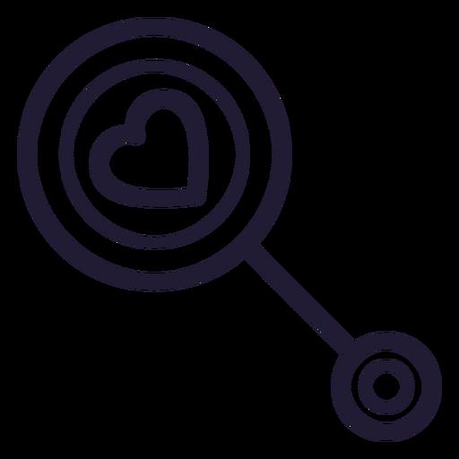 Heart Baby Rattle Stroke Icon