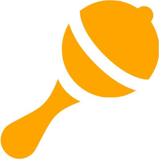 Orange Rattle Icon