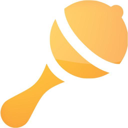 Web Orange Rattle Icon