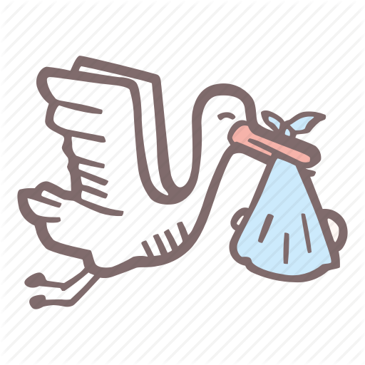 Baby, Baby Shower, Mother To Be, Party, Pregnancy, Stork Icon