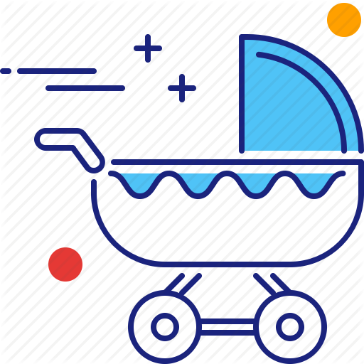 Baby, Babysit, Babysitter, Babysitting, Kid, Stroller, Toddler Icon