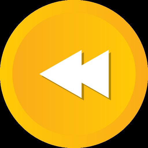 Arrow, Back, Player, Music, Multimedia, Left, Rewind Icon Free