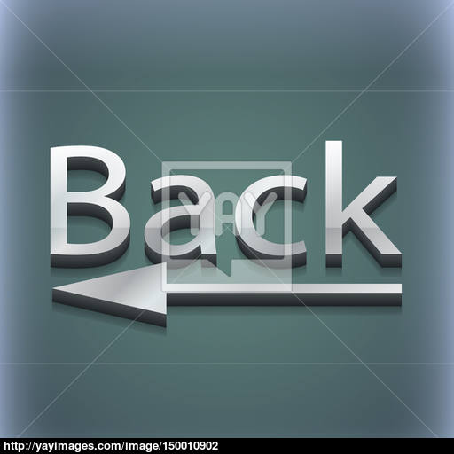 Back Arrow Icon Symbol Style Trendy, Modern Design With Space