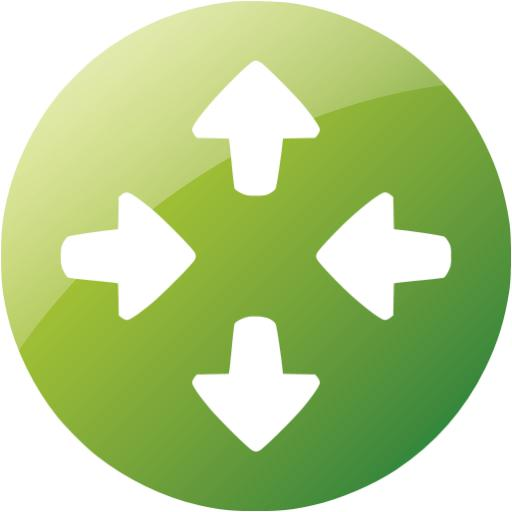 Web Green Router Icon