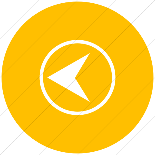 Flat Circle White On Yellow Classica Back Button Icon
