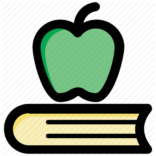 Apple Education, Apple On Book, Back To School, Education Concept