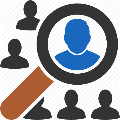 Customers, Find, Person, Search People, Social, Users, Zoom Icon