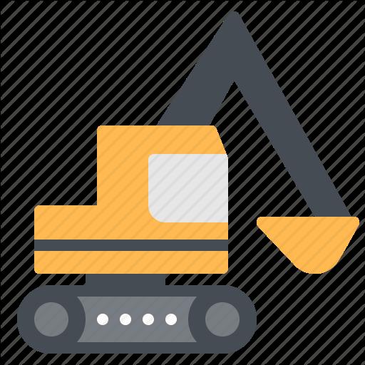 Backhoe, Construction, Digger, Loader, Vehicle Icon