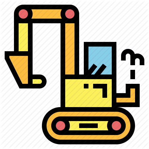 Backhoe, Excavator, Excevetion, Tracked, Trackhoe Icon