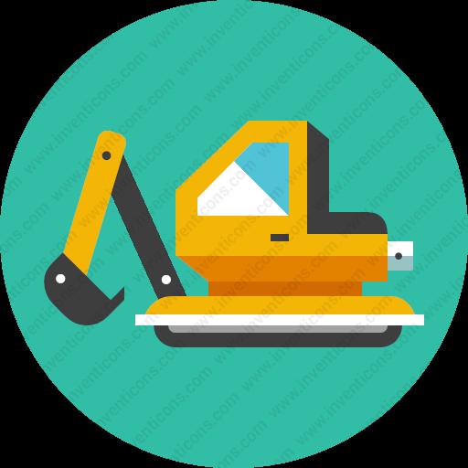 Download Excavator,backhoe,dredge Icon Inventicons