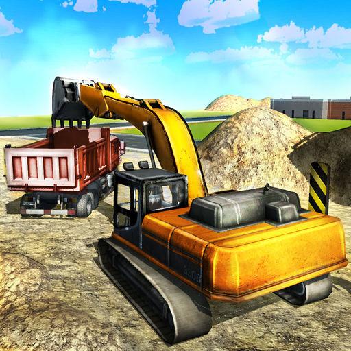 Sand Excavator Truck Simulator Heavy Construction Backhoe