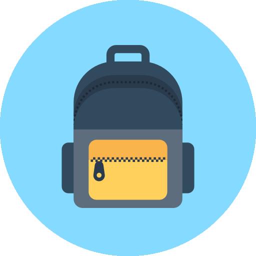 Backpack Icon Education Vectors Market