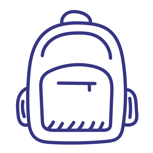School, Bag, Backpack Icon Free Of School Outline Hand Drawn Icons