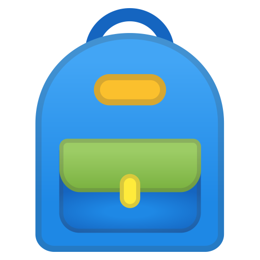 School Backpack Icon Noto Emoji Clothing Objects Iconset Google