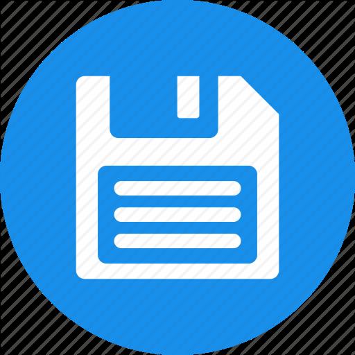 Backup, Blue, Disk, Diskette, Download, Drive, Floppy Icon