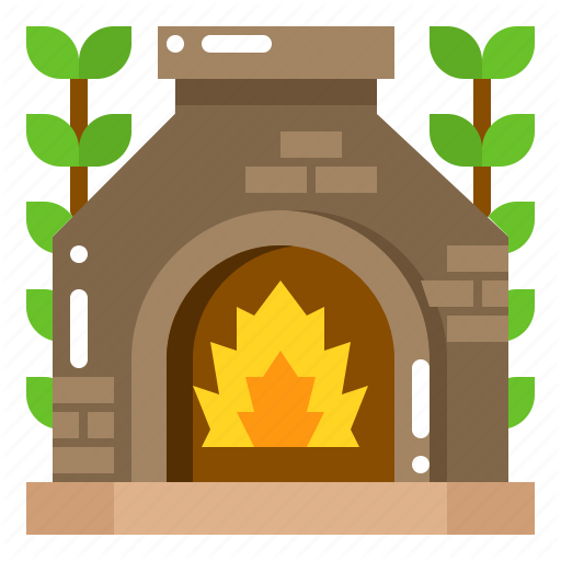 Backyard, Fire, Fireplace, Patio, Pit, Stone Icon