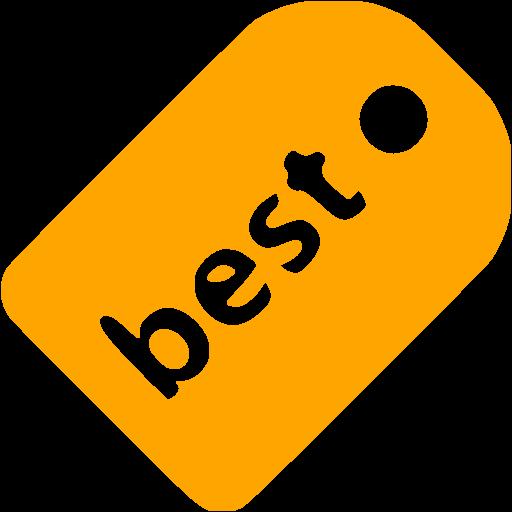 Orange Best Badge Icon