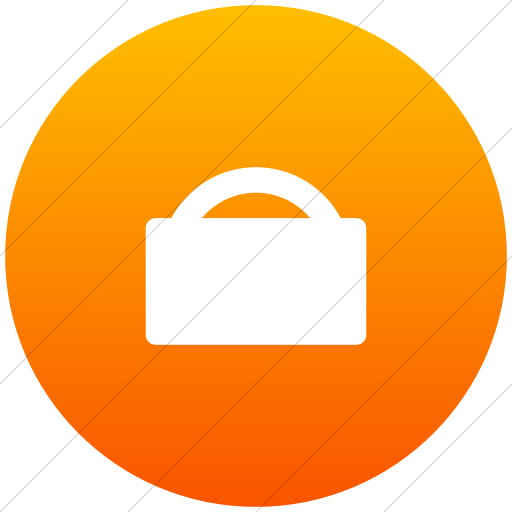 Flat Circle White On Orange Gradient Foundation