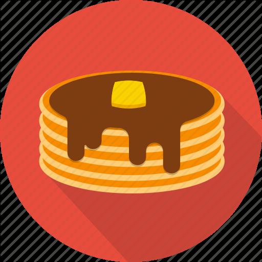 Bakery, Cake, Chocolate, Dessert, Food, Pancake, Pie Icon