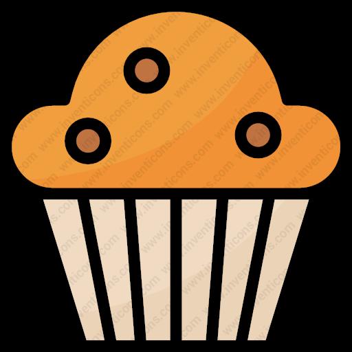 Download Food,dessert,foodrestaurant,baked,cupcakes,bakery Icon