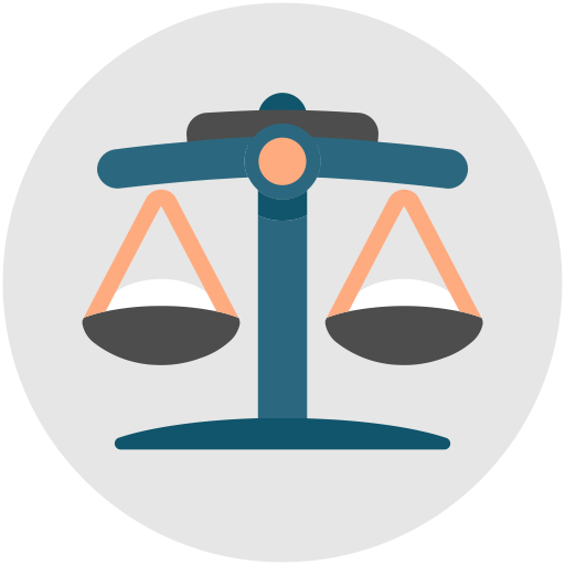 Judge, Law, Justice, Weighing Scale, Weight, Balance Icon