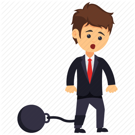 Business Law And Crime Concept, Businessman With Prison Ball