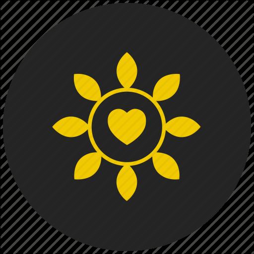 Chain, Flower, Heart, Valentines Day Gift Icon