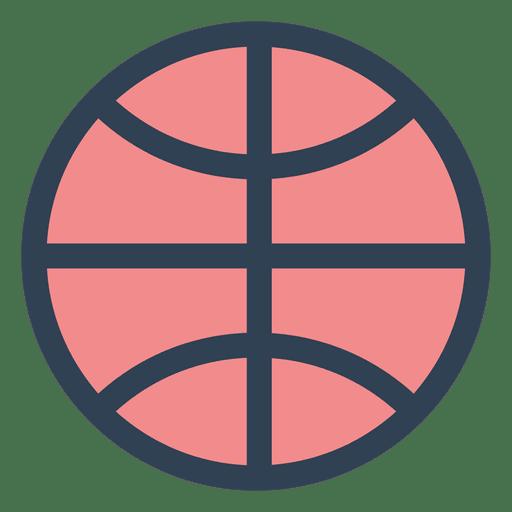 Basketball Ball Stroke Icon