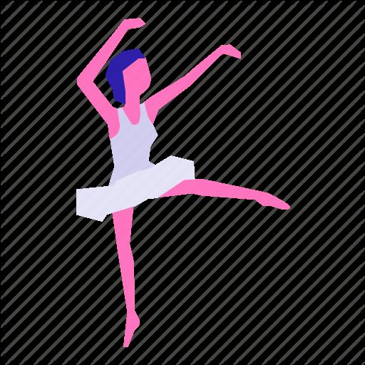 Art, Ballerina, Ballet, Cartoon, Dance, Fashion, Girl Icon