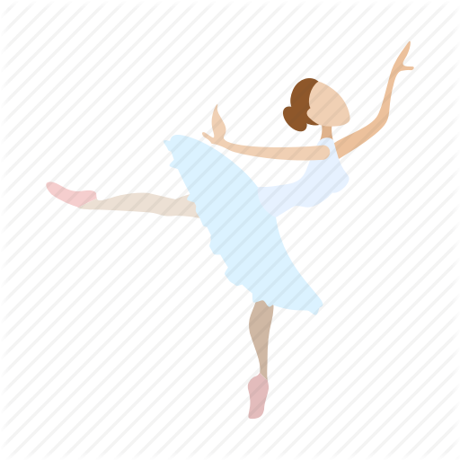Ballerina, Ballet, Cartoon, Cute, Dance, Dancer, Theater Icon