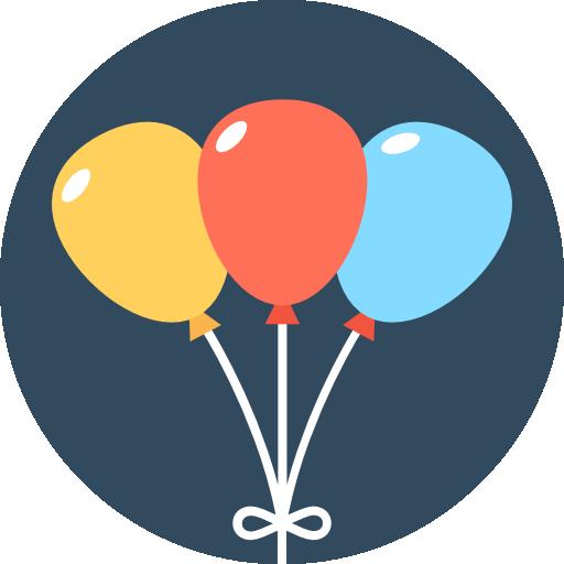 Balloon Icon Circus Vectors Market