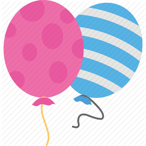 Balloons, Blue Balloon, Celebration, Decoration, Pink Balloon Icon