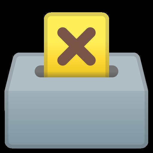 Ballot Box With Ballot Icon Noto Emoji Objects Iconset Google