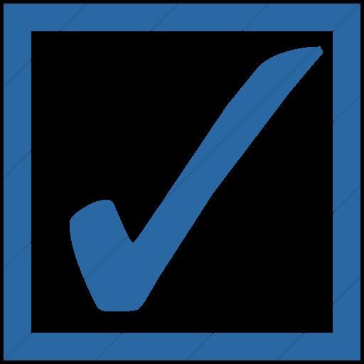 Simple Blue Classica Ballot Box With Check Icon