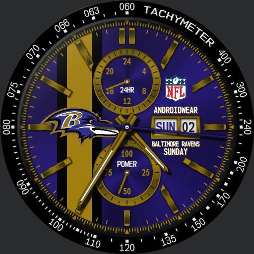 Sports Baltimore Ravens Nfl Modular Racer Watchfaces For Smart