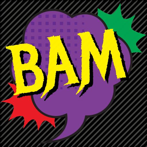 Bam, Bam Bubble, Bam Comic Balloon, Bam Pop Art, Blow Comic Bubble
