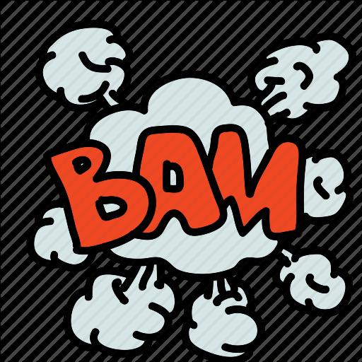 Bam, Banners, Cartoon, Cloud, Comic, Labels, Smoke Icon