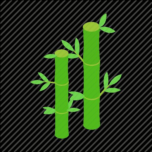 Bamboo, Decoration, Isometric, Leaf, Nature, Plant, Tree Icon