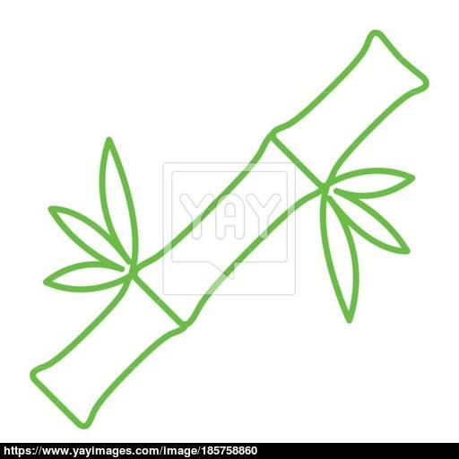 Thin Line Bamboo Icon Vector