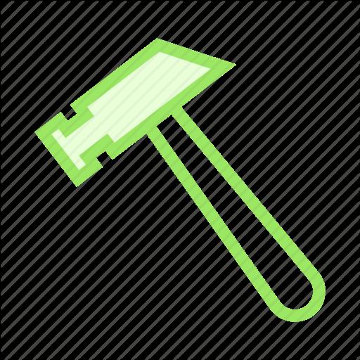 Construction, Hammer, Maintenance, Setting, Tools Icon