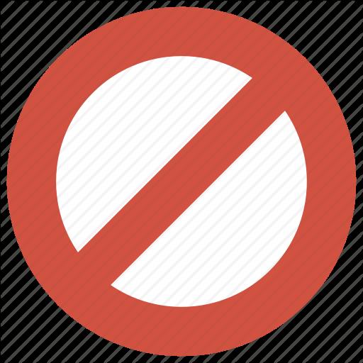 Ban, Block, Lock, Stop, Unable Icon