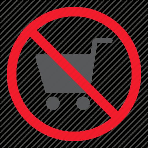 Ban, Cart, Forbidden, No, Prohibition, Shopping, Stop Icon