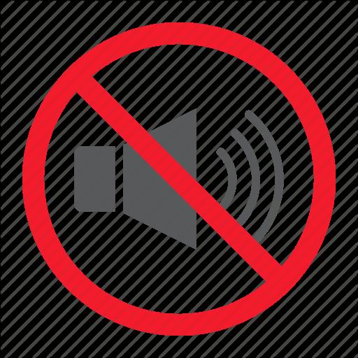 Ban, Forbidden, No, Noise, Prohibition, Sound, Stop Icon
