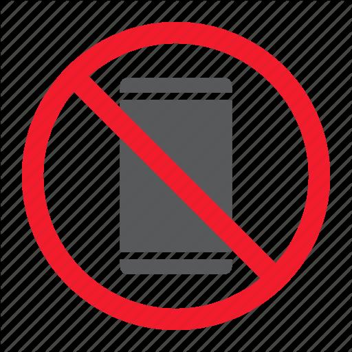 Ban, Forbidden, No, Phone, Prohibition, Smartphone, Stop Icon